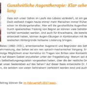 Sehtraining: Ganzheitliche Augentherapie