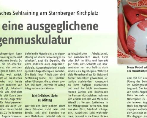 Augentraining und Sehtraining in Starnberg (Tassilo-Magazin)